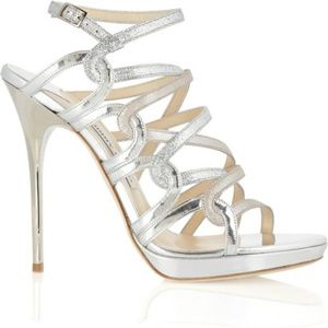 Jimmy Choo Dart metallic straps sandals